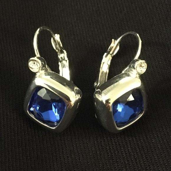 Joan Rivers Blue Stone Drop Earrings